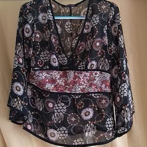 Violet & Claire NY Shear Top worn 1X- Size L